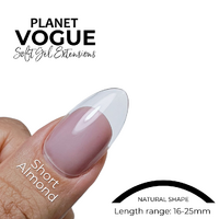 Planet Vogue- Almond Short - 504 Tips PACK